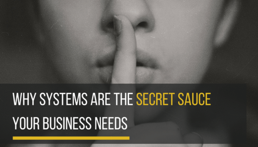 WHY Systems are the Secret Sauce that your Business needs