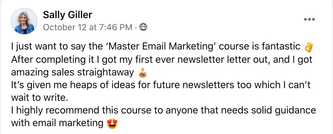 Sally Giller Master Email Marketing