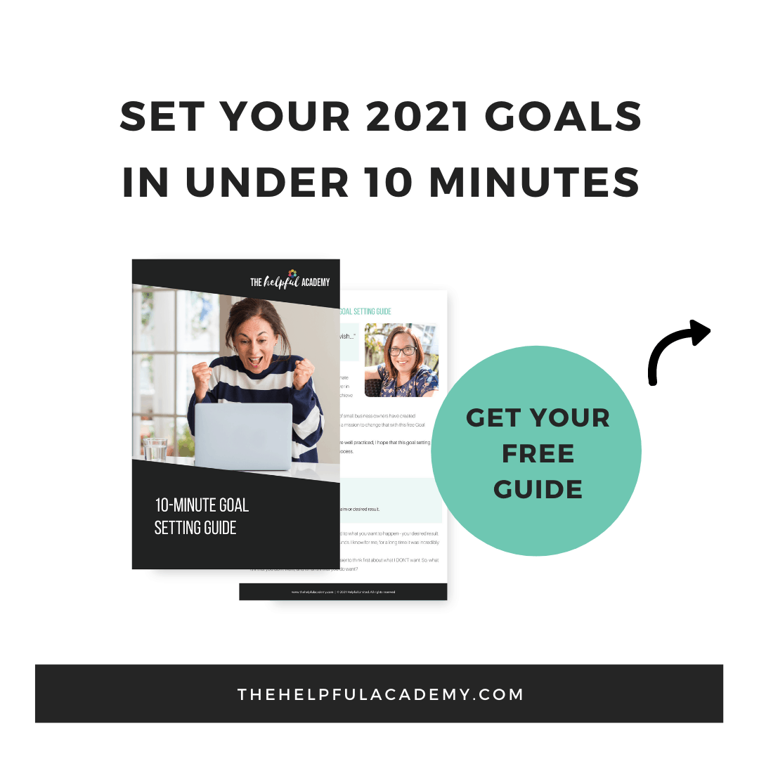 Free Goal Setting Guide The Helpful Academy