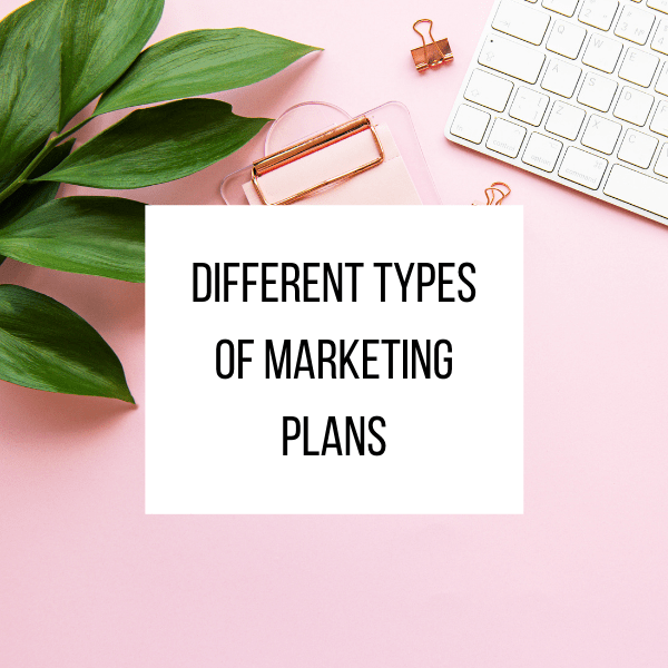 What types of different types of marketing plans are there_