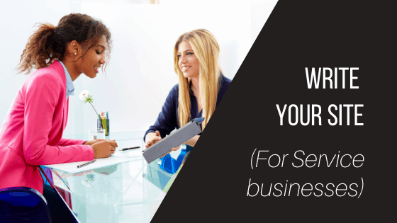How to write your website copy for your service based business
